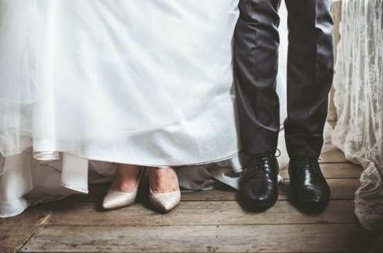 married couple lower legs